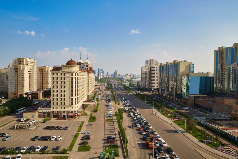 Ville d'Astana, Kazakhstan - photo de taille photographie stock libre de droits
