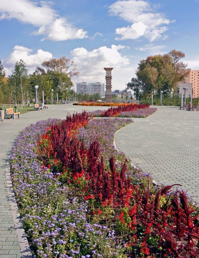 Ville d'Astana. Tour d'horloge photographie stock libre de droits