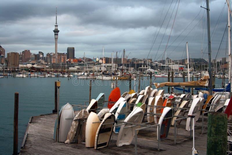 Ville d'Auckland au Nouvelle-Zélande photographie stock libre de droits