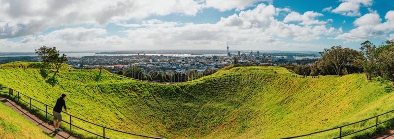 Ville d'Auckland, Nouvelle-Zélande Mt Eden Park images stock