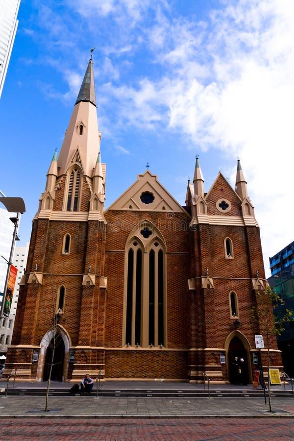 Ville d'Australie d'église de Perth St Andrew photographie stock libre de droits