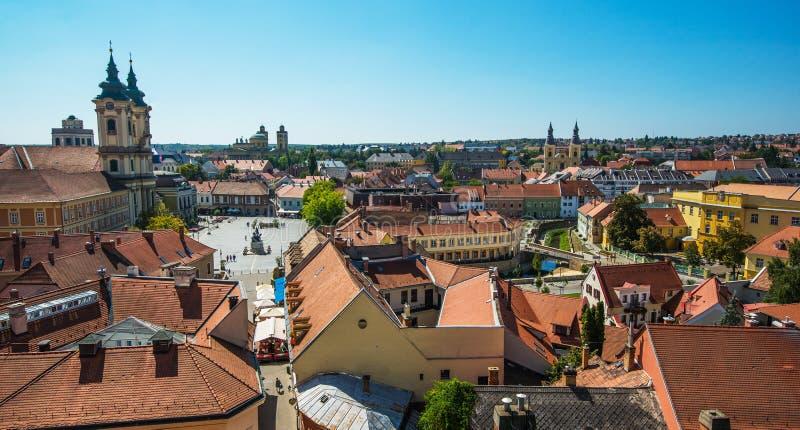 Ville d'Eger Hongrie images libres de droits