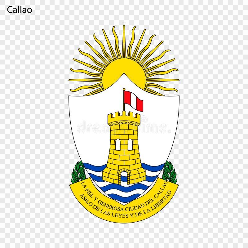 Ville d'emblème du Pérou illustration de vecteur