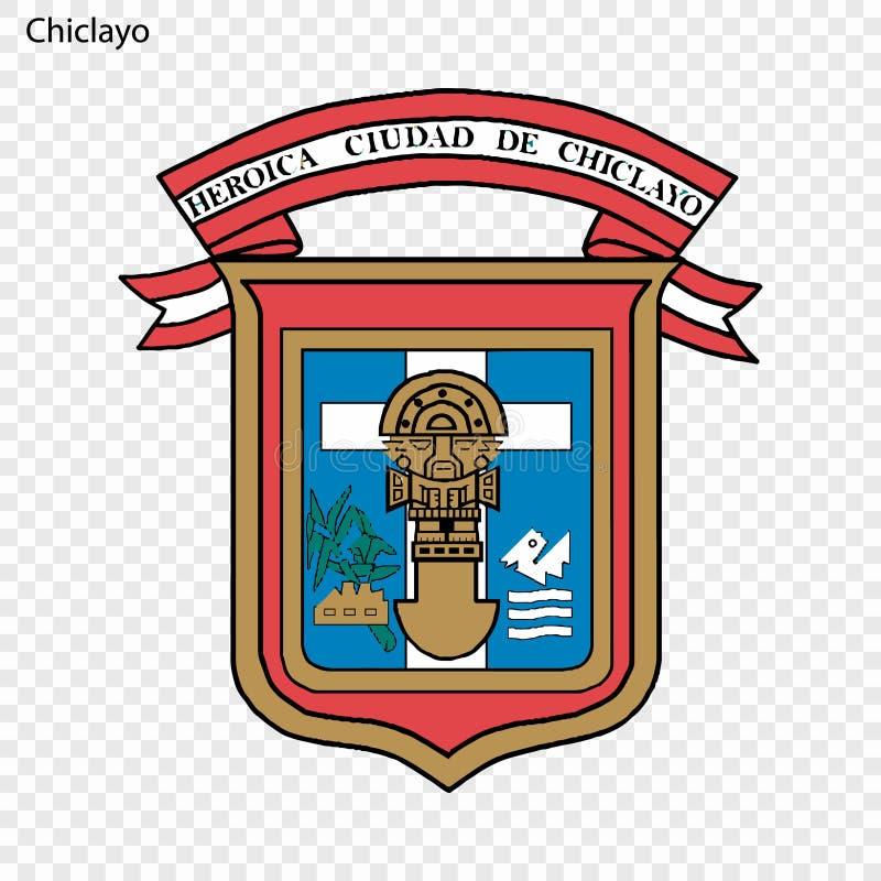 Ville d'emblème du Pérou illustration stock