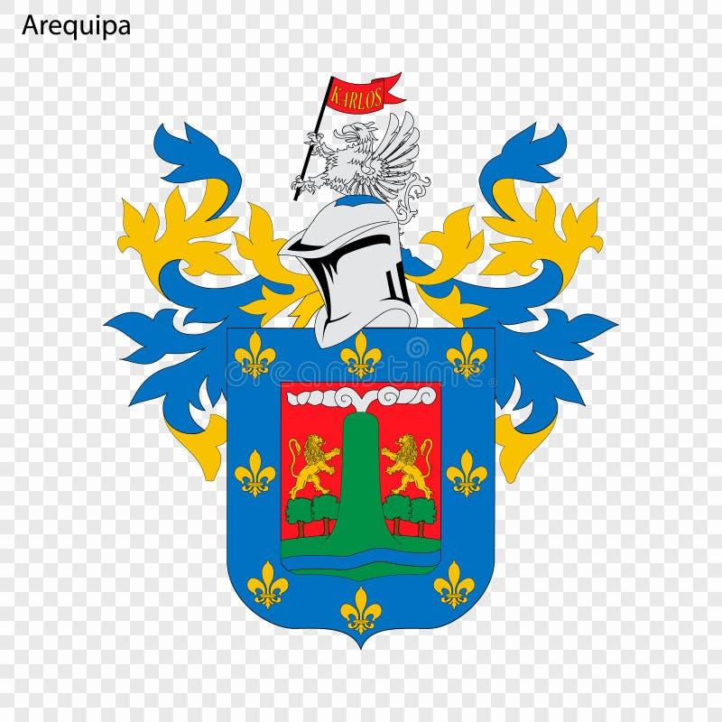 Ville d'emblème du Pérou illustration libre de droits