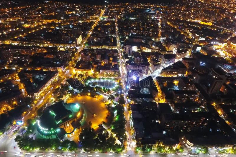 Ville d'Erevan la nuit, Arm?nie images libres de droits