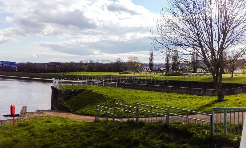 Ville d'Exeter Le vue est joli photo libre de droits
