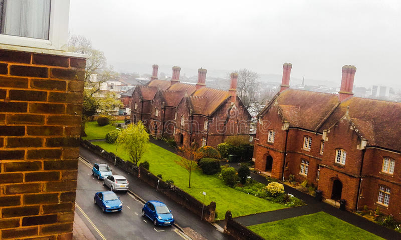 Ville d'Exeter Le vue est joli photos stock
