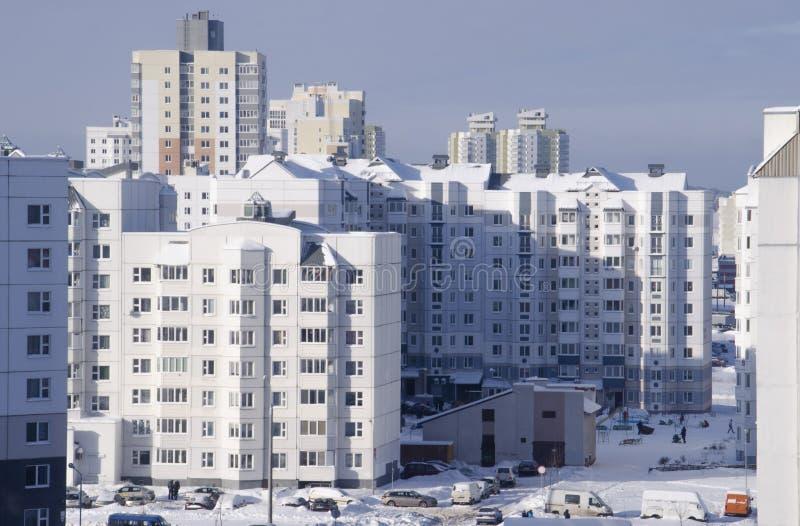 Ville d'hiver image libre de droits