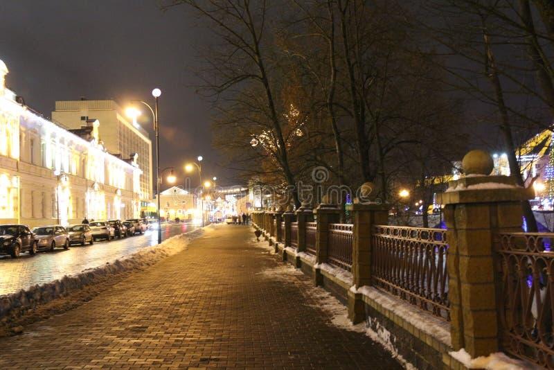 Ville d'hiver, Grodno, décoration photos stock