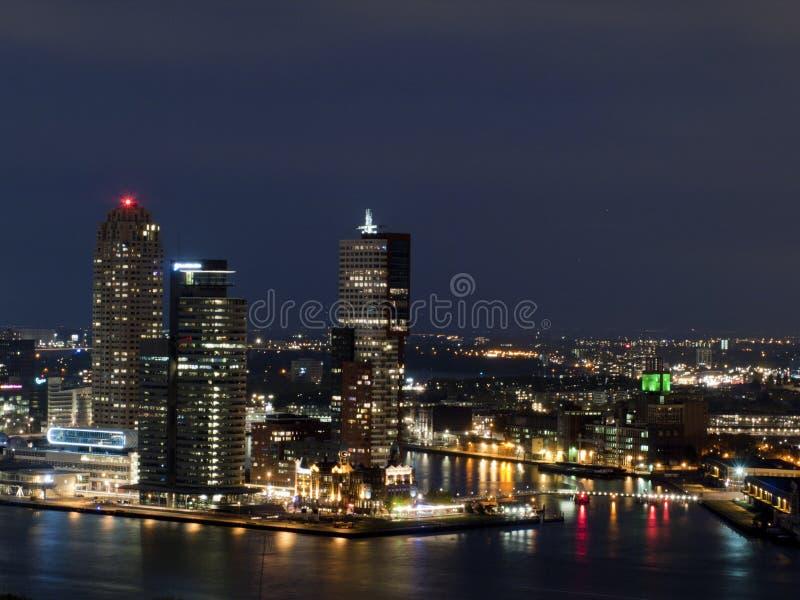 Ville d'horizon de Rotterdam images stock