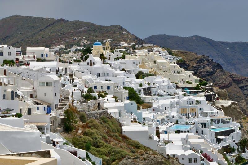 Ville d'Oia sur l'île de Santorini photo stock