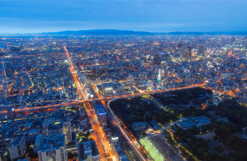 Ville d'Osaka d'Abeno Harukas photographie stock libre de droits