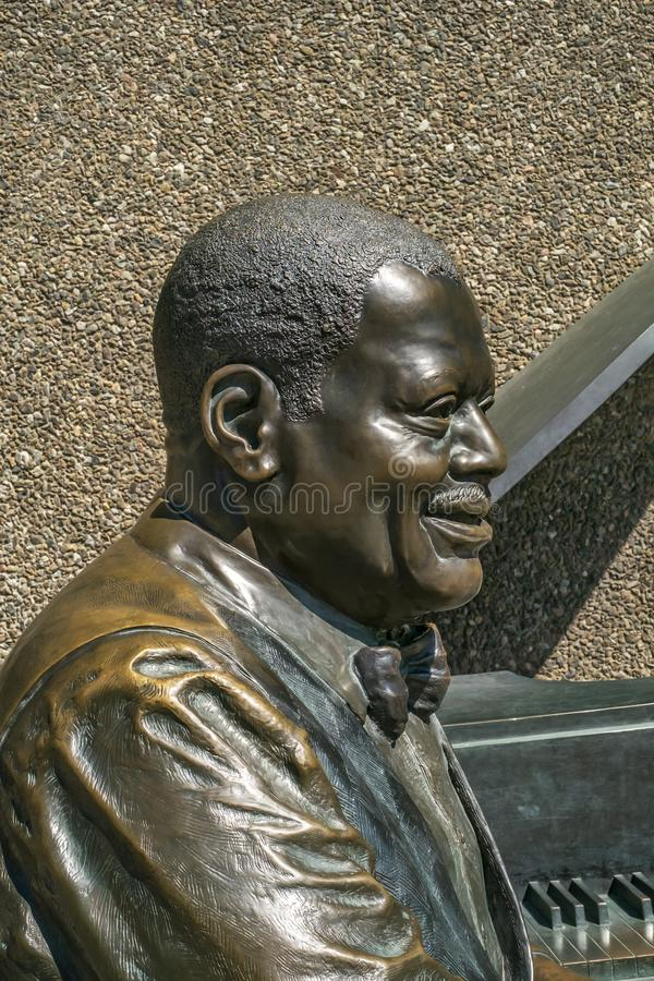 Ville d'Oscar Peterson Statue d'Ottawa image libre de droits