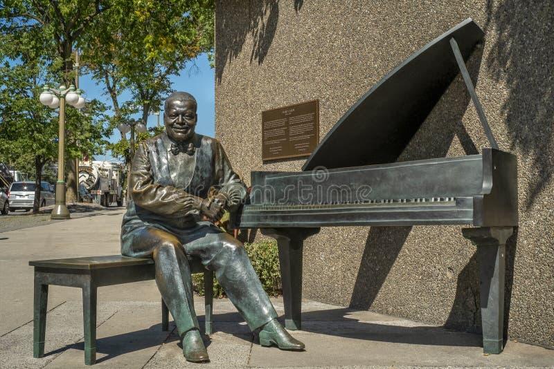 Ville d'Oscar Peterson Statue d'Ottawa photo stock