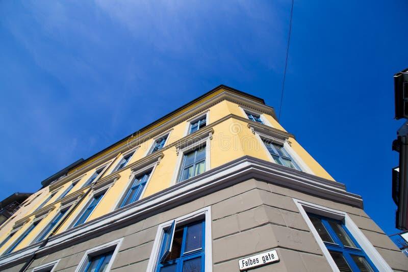 Ville d'Oslo construisant 12 images libres de droits