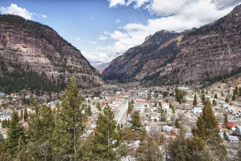 Ville d'Ouray, le Colorado images libres de droits