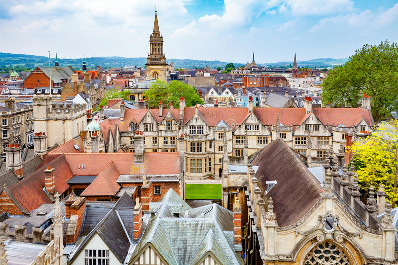 Ville d'Oxford l'angleterre photo stock