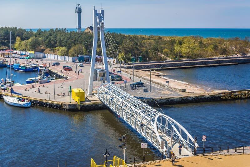 Ville d'Ustka en Pologne photo libre de droits