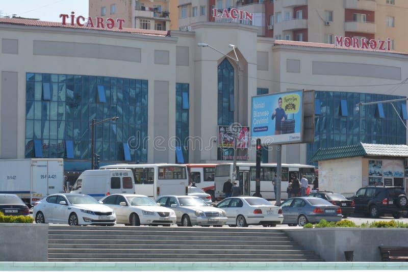 Ville de Bakou, centre commercial photographie stock