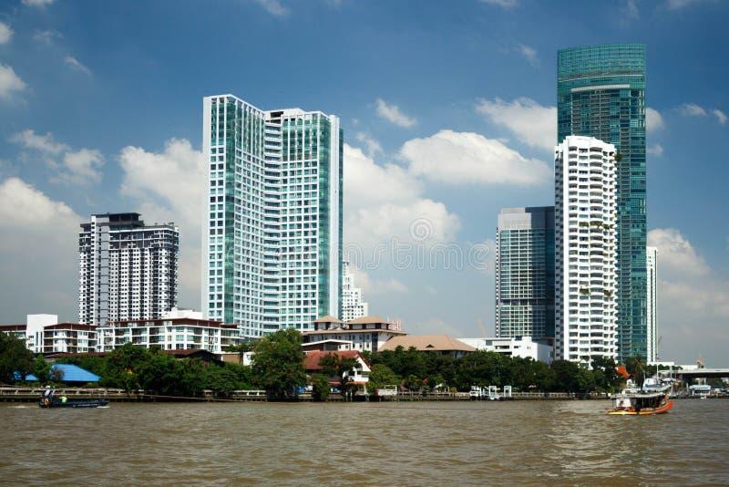 Ville de Bangkok, bâtiments d'horizon en capitale de la Thaïlande photographie stock libre de droits