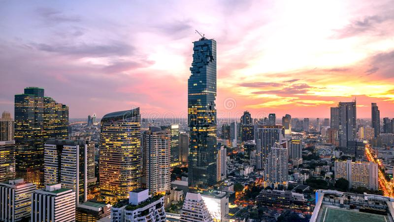 Ville de Bangkok - paysage urbain Thailan photographie stock libre de droits
