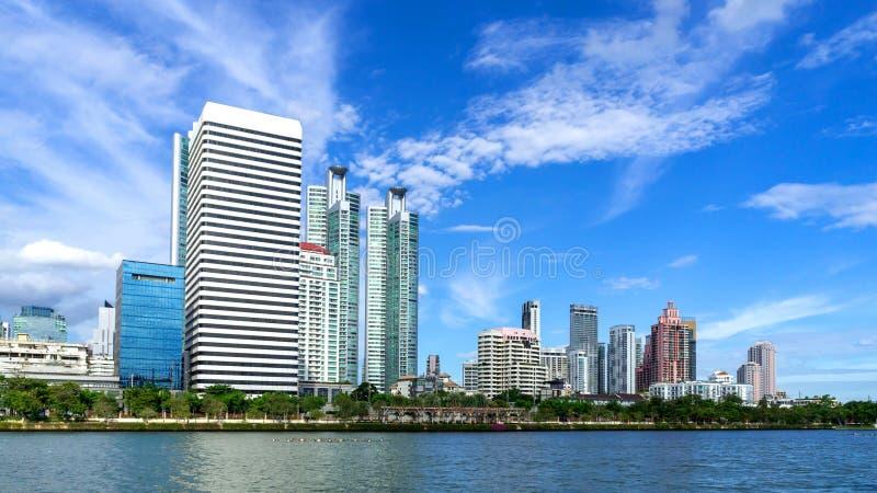 Ville de Bangkok - zone urbaine du centre de district des affaires de paysage urbain photographie stock libre de droits