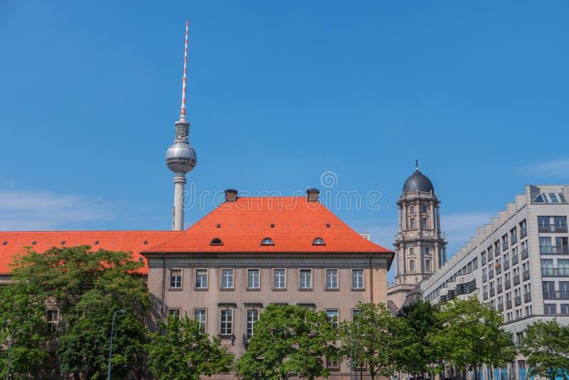 Ville de Berlin, Allemagne, l'Europe Paysage urbain, tour de TV photos stock