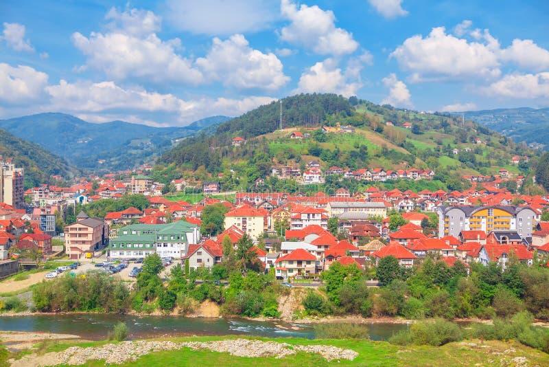 Ville de Bijelo Polje photographie stock libre de droits