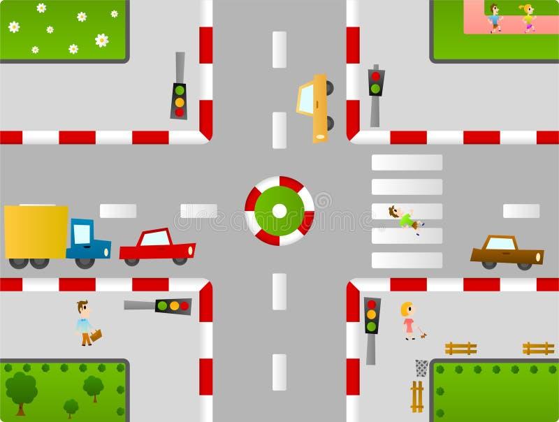 Ville de Birdseye illustration de vecteur