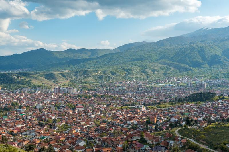 Ville de Bitola - horizon photos stock