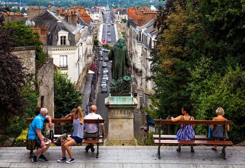 Ville de Blois photo libre de droits