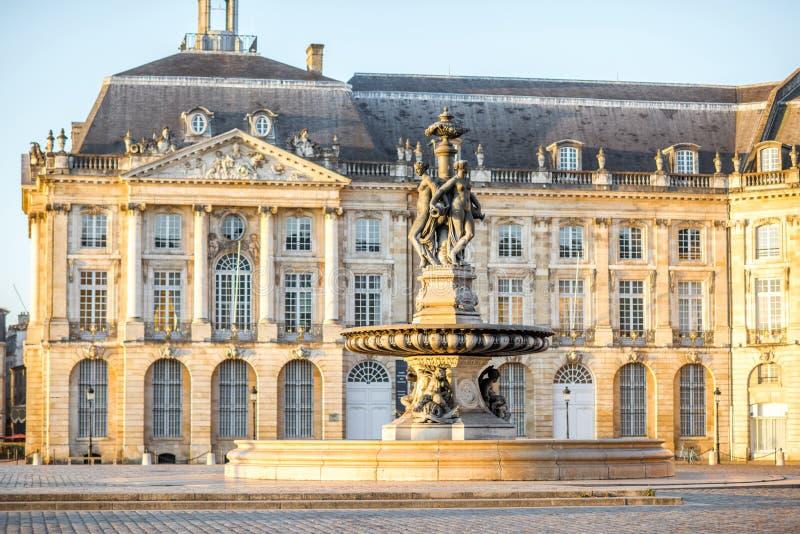 Ville de Bordeaux dans les Frances image libre de droits