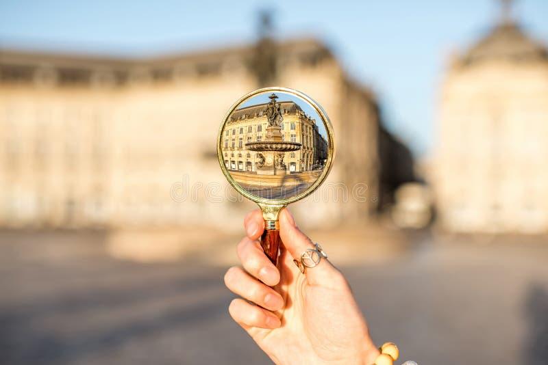 Ville de Bordeaux dans les Frances photos stock