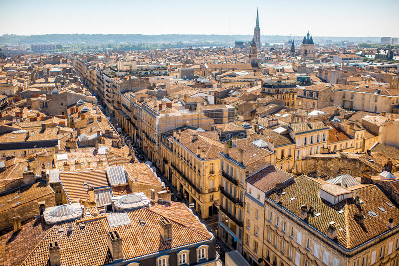 Ville de Bordeaux dans les Frances image stock