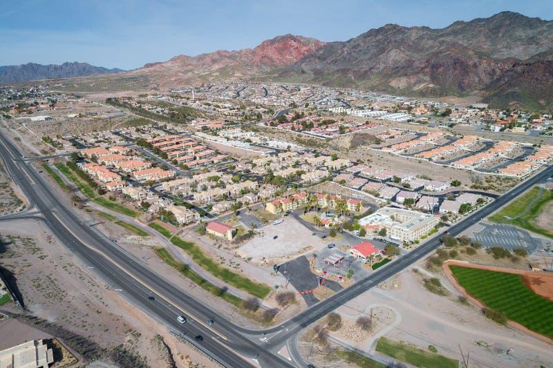 Ville de Boulder au Nevada, Etats-Unis photographie stock