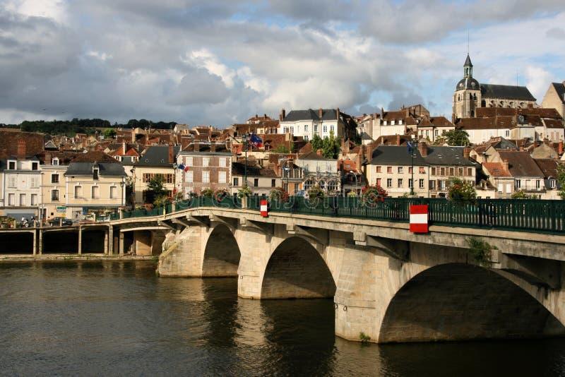 ville de Bourgogne photo stock