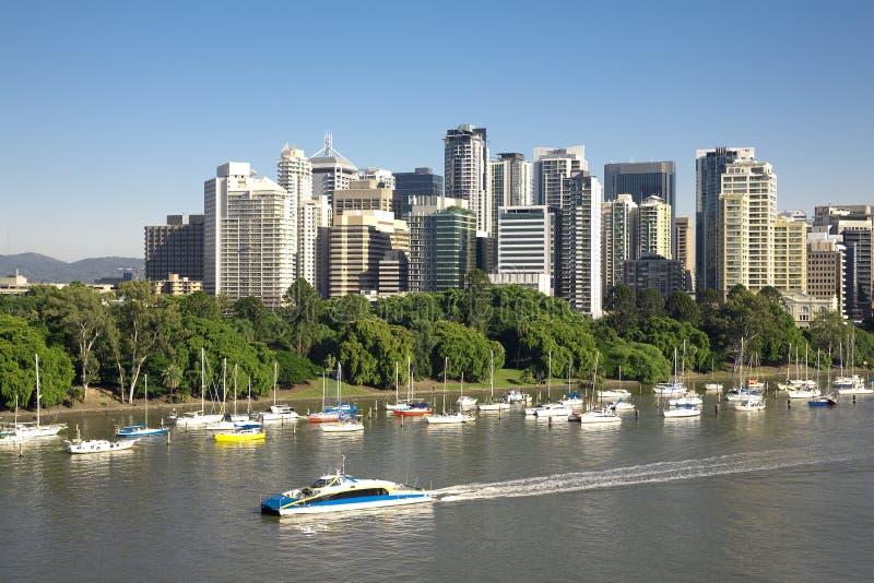 Ville de Brisbane de l'Australie photo stock