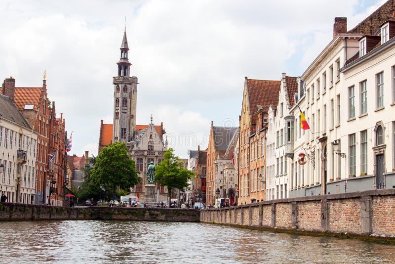 Ville de Bruges de Belge vieille photo libre de droits