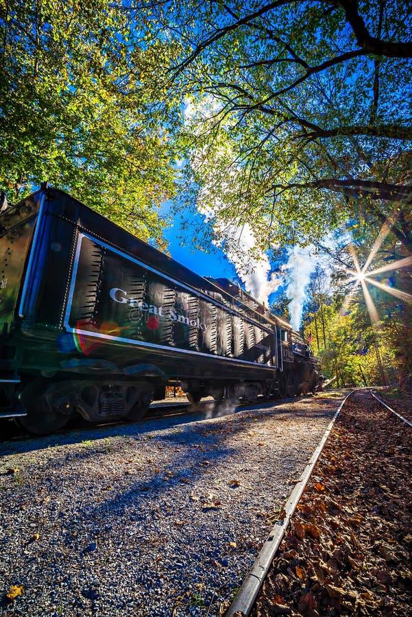 Ville de Bryson, train r d'OR le 23 octobre 2016 - Great Smoky Mountains photo stock