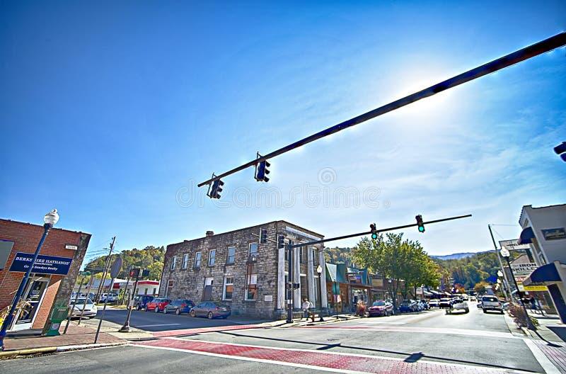 Ville de Bryson, train r d'OR le 23 octobre 2016 - Great Smoky Mountains photos libres de droits