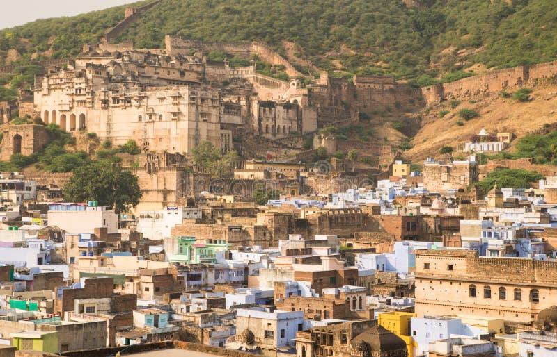 Ville de Bundi avec le fort photographie stock libre de droits