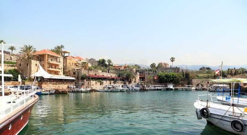 Ville de Byblos et port, Liban photographie stock libre de droits