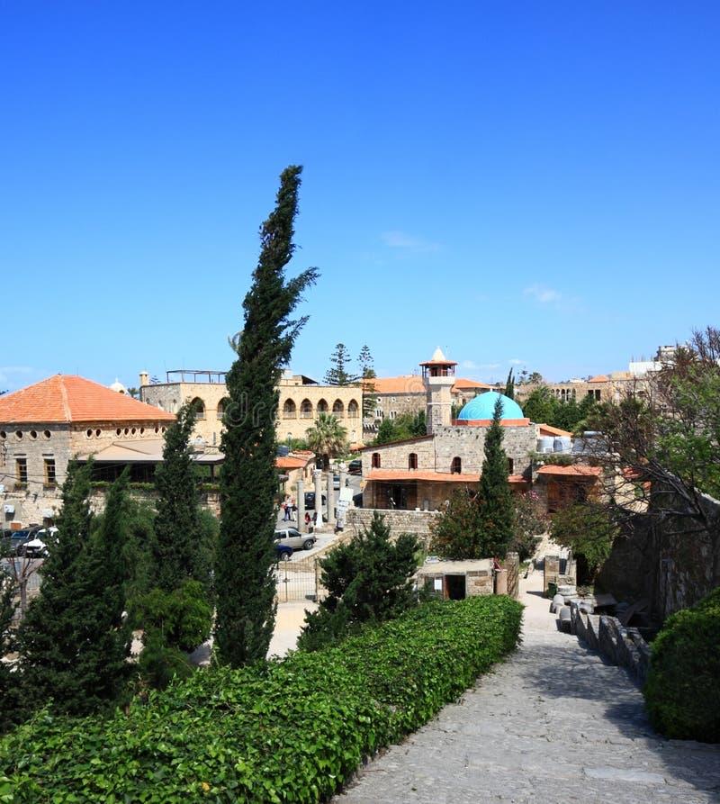 Ville de Byblos, Liban images stock