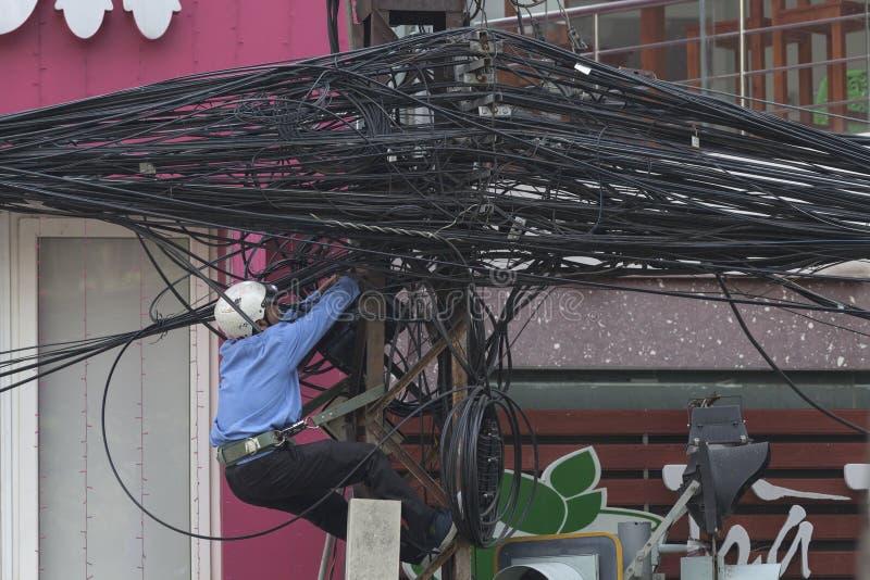 Ville de câble image libre de droits