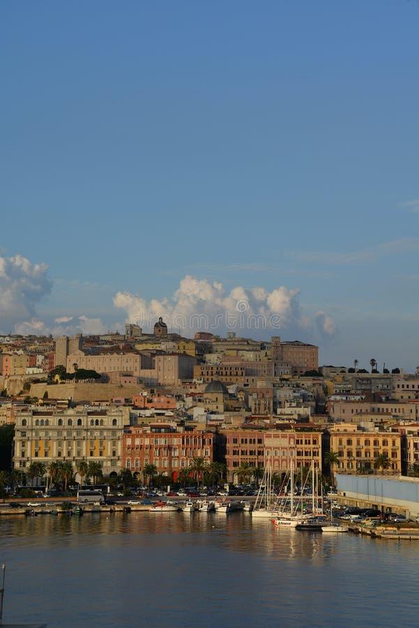 Ville de Cagliari, Sardaigne, Italie photographie stock libre de droits