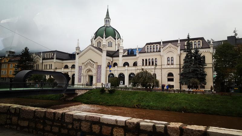 Ville de canalisation de Sarajevo BiH photo stock
