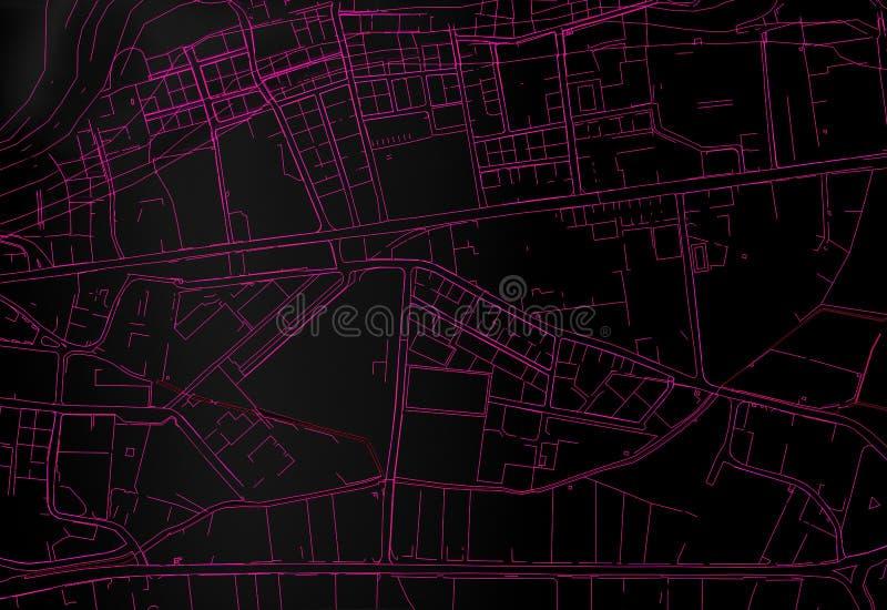 Ville de carte de topographie illustration libre de droits