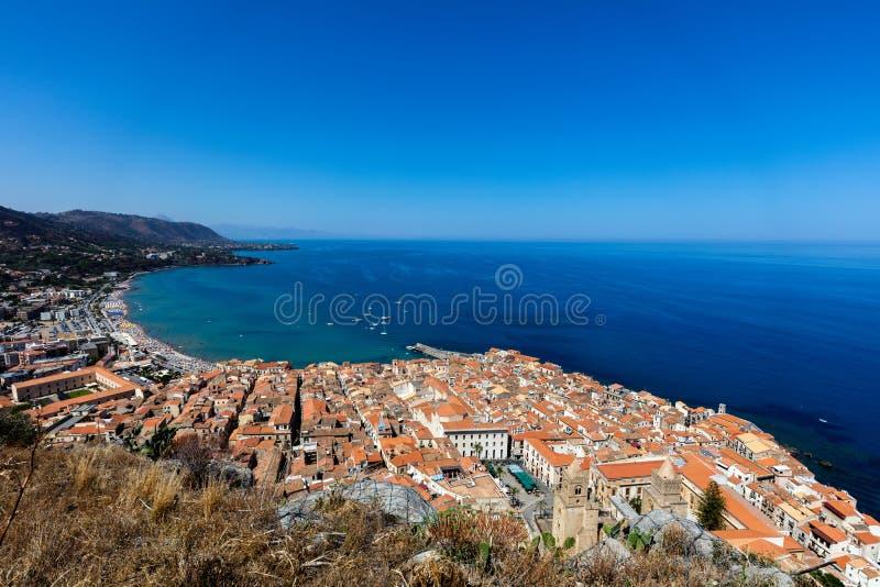 Ville de Cefalu, Sicile, Italie photographie stock libre de droits
