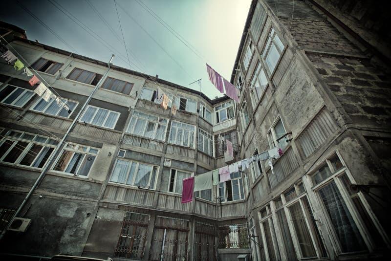Ville de Chambre de l'Arménie Erevan, voyage, architecture, maison, bâtiment, paysage urbain, Arménien, capital, secteur, ville,  image stock